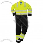 HI-Vis Safety Coverall (Yellow/Navy)