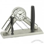 Hair Dryer and Comb BARBER Mini Clock