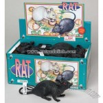 Halloween Black Plastic Rat