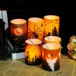 Halloween Pattern LED Electronic Candle Lights