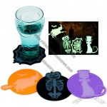 Halloween Silicone Coasters - Grow In the dark