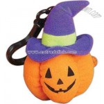 Halloween pumpkin figure with backpack clip