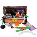 Haloween Toy Asst Treasure Chest