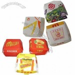 Hamburger Paper Box with Glossy Lamination Printing