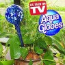 Hand-Blown Aqua Glass Watering Bulbs