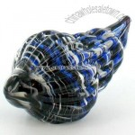 Hand Blown Glass Shell Art Statue Sculpture
