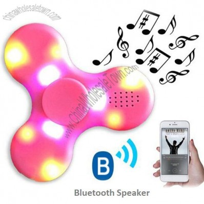 Hand Fidget Spinner with LED Lights and Bluetooth Speaker