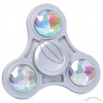 Hand Fidget Toy Finger Spinner with Faux Crystal