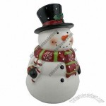 Hand Paint Ceramic 3D Snowman Cookie Jar