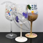 Hand Painted Wine Glass