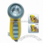 Hand Pressing LED Flashlight