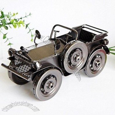 Hand Wrought Iron Plating Classic Car Model