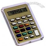 Hand held calculator with jeweled buttons