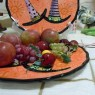 Hand-painted Fruit Plate for Halloween