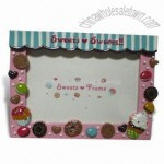 Hand-painted Polyresin Photo Frame