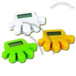 Hand-shape pedometer/step counter with different colors