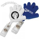 Hand shape retractable badge holder
