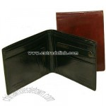 Hand stained Italian leather executive slim billfold wallet