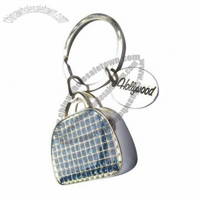 Handbag-Shaped Metal Keychain
