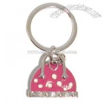 Handbag with Padlock Charm Keyring