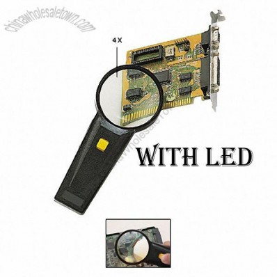 Handheld Magnifier with LED Lighted
