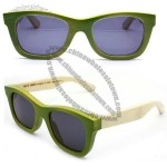 Handmade Apple green bamboo sunglasses