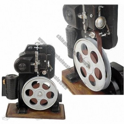 Handmade Metal Reproduction of Old-fashioned Projector