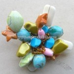 Handmade Multicolored Costume Brooches