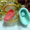 Handmade Soap Molds Soap Mould Biscuit Mold Square Mold A Lovely Bear On The Shoes