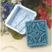 Handmade Soap Molds Soap Mould Biscuit Mold Square Mold Dancing Flowers