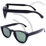 Handmade black bamboo polarized sunglasses