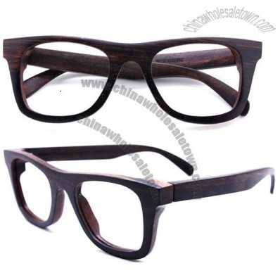 Handmade ebony wood eyeglasses wooden glasses frame