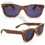 Handmade round olive wood wooden sunglasses