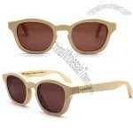 Handmade vintage yellow bamboo sunglasses glasses