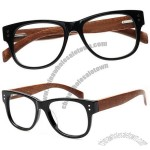 Handmade wood & acetate wooden sunglasses or glasses frame with prescription lenses