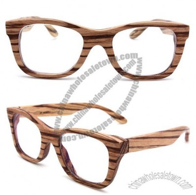 Handmade zebra wood glasses Large size