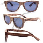 Handmade zebra wood wooden brown sunglasses