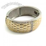 Handsome Wide Bangle 14k Gold Bracelet