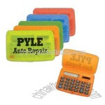 Handy translucent pocket foldable calculator