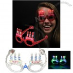 Happy Birthday Candle Flashing LED Glasses White Party Favor