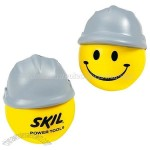 Happy Face Hard Hat Stress Ball