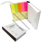 Hard Cover Post Note Pad with Tape Flags