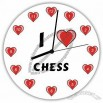 Hardboard Wall Clock with I Love Chess