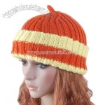 Hat Hand knit Crochet Beanie Girl