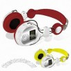Headphone Radio/MP3 with SD Card Slot and LCM Display White Color Backlight