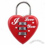 Heart 3 Dial Combination Luggage Travel Bag Code Lock