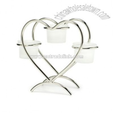 Heart Candle Centerpiece