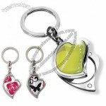 Heart Key Chain with Mirror