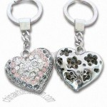 Heart Keychain with Iron Rings and Zinc Alloy Pendant