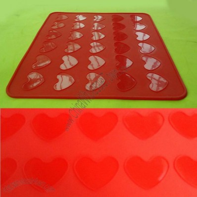 Heart Macarons Silicone Mat